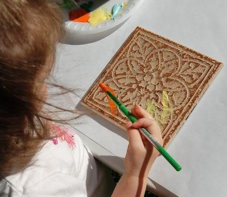 Tile Painting Art For Kids