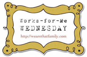 works for me wednesday at we are that family