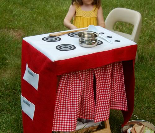 Diy travel play kitchen set inner child fun for Play kitchen table