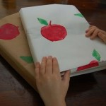 Easy Apple Printed Book Covers from a Paper Bag