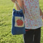 Tutorial — Apple Printed Lunch Sack from Old Jeans