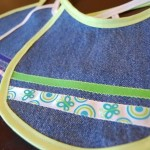 Tutorial and Giveaway — Baby Bib from Old Jeans