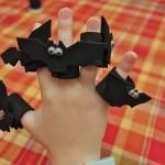 Five Little Bats Finger Puppet Playset