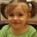 Sunday Snapshot — Clara's First Pigtails!