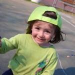 Sunday Snapshot — Look Who's into Sidewalk Chalk!