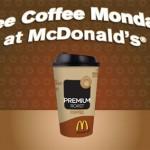 Reminder — Free Coffee Mondays At McDonald's