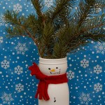 Snowman Vase from Recyclables