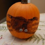 Spooky Spider-Printed Pumpkins