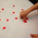 Finger Painted Strawberry Prints