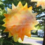 Quick Craft — Tie Dyed Sunshine Ornaments