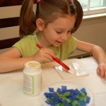 Father's Day Gifts Kids Can Make — Colorful Coaster Set