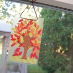Easy Autumn Tree Suncatcher
