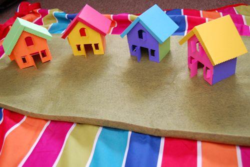 Как сделать домик из цветной бумаги своими руками 1174
