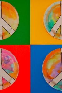 Toddler Art — Groovy Peace Signs