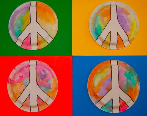 Toddler Art Groovy Peace Signs Inner Child Fun