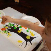Toddler Art — Autumn Tree Painting