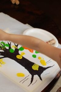 Toddler Art — Autumn Tree Painting