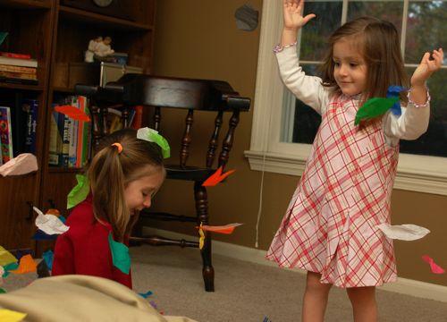Indoor Leaf Pile Inner Child Fun