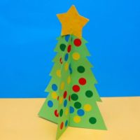No Mess Christmas Tree Craft for Tots
