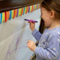 Purple Crayon Mural