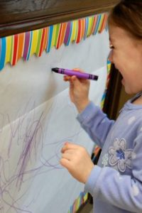 Purple Crayon Mural