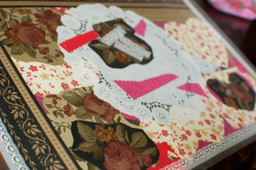 Crafting With Leftovers Valentine Collage Placemats