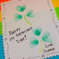 Easy Thumb Printed Shamrocks