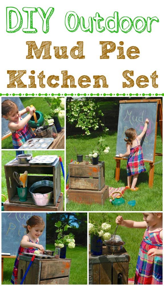outdoor mud pie kitchen - inner child fun