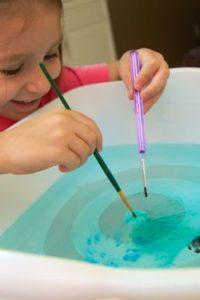 Weekend Art — Suminagashi for Kids