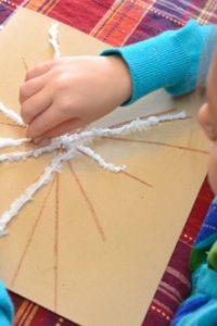 No Mess Sandpaper Snowflakes