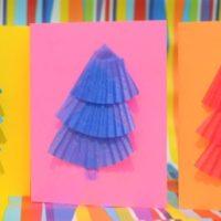 Handmade Pine Tree Holiday Cards