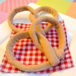 Pretend Pretzels Made with Cleaning Cloths
