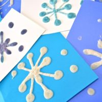 Puffy Snowflake Paintings