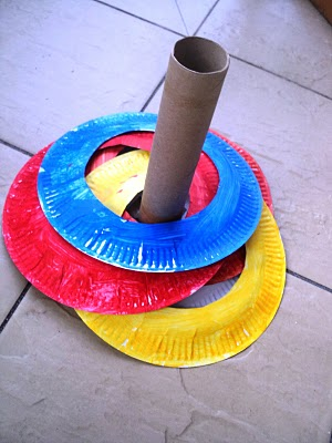 For a fun and active game try a Ring Toss made with paper plates! See the full post at A Little Learning for Two. & 6 Creative Spring Crafts with Paper Plates - Inner Child Fun