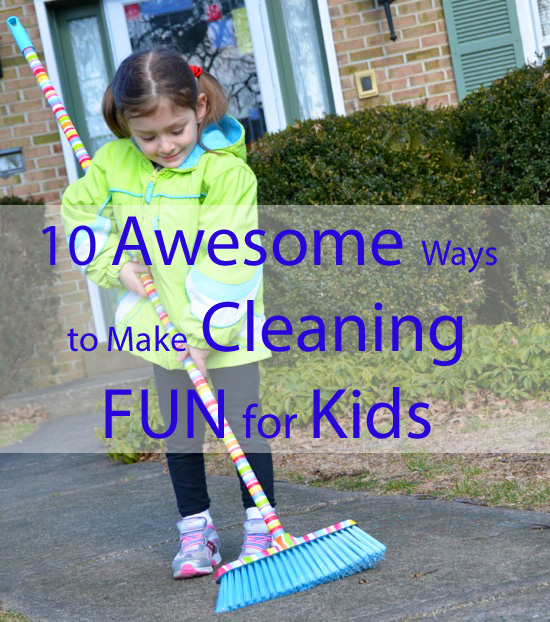 Cleaning fun for kids