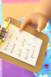 How to Make a Doll Clipboard and Pencil Set
