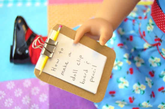 How to make a doll clipboard and pencil set inner child fun for Easy american girl doll crafts