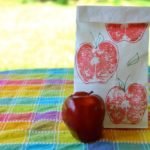 DIY School Supplies: Apple Printed Lunch Bags
