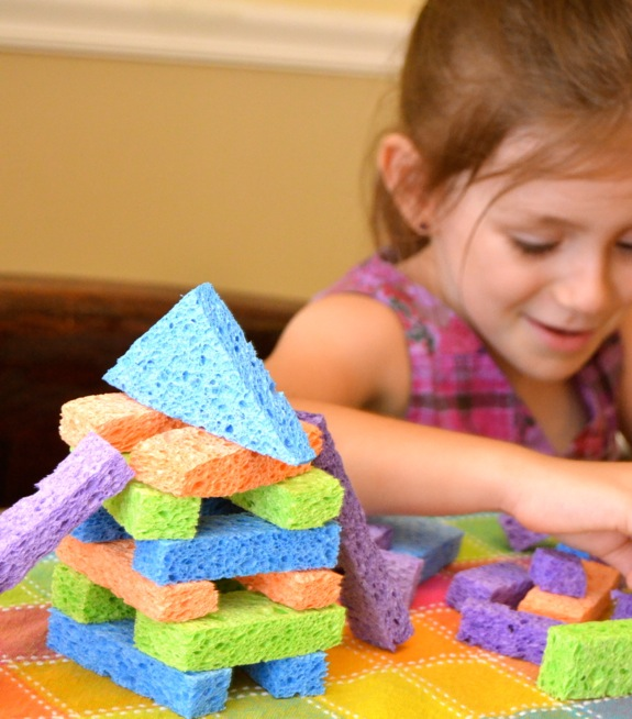 make your own sponge blocks inner child fun