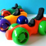 Recycle Craft: Play Dough Cars