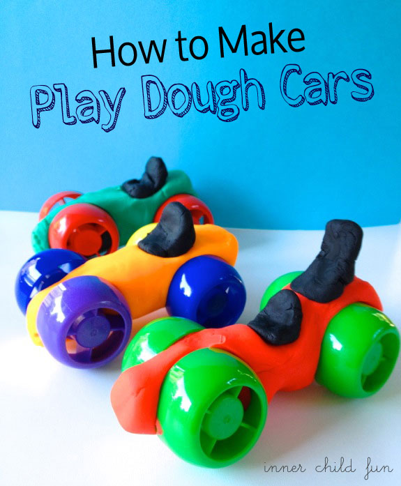 how to make a car with playdoh