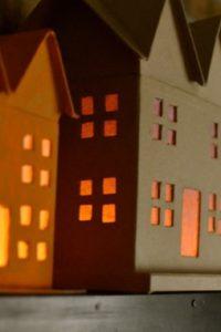 Spooky Paper Mâché Haunted Houses