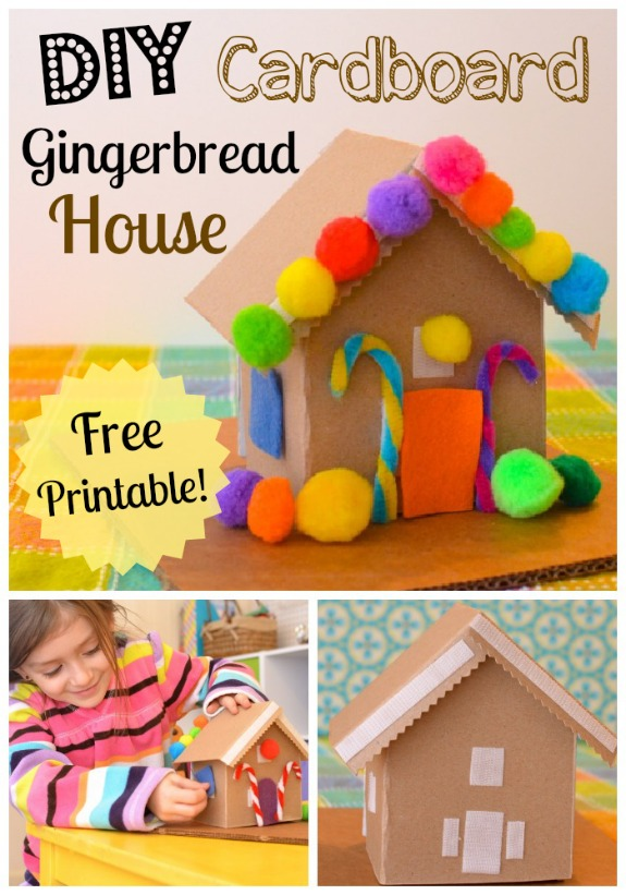 graphic regarding Printable Gingerbread Houses named Do it yourself Cardboard Toy Gingerbread Property - Internal Boy or girl Enjoyable