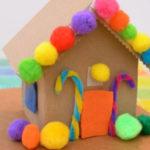 DIY Cardboard Toy Gingerbread House