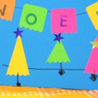 Colorful Kid Made Holiday Cards