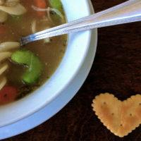 Hearty Garlic & Herb Chicken Soup