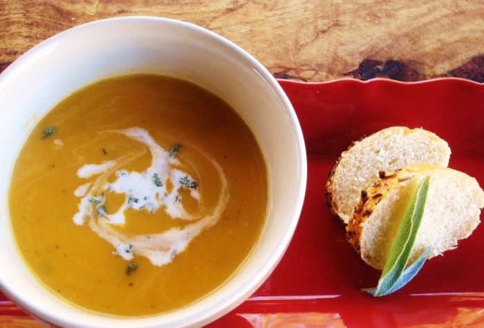 Creamy Roasted Vegan Butternut Squash Soup Recipe