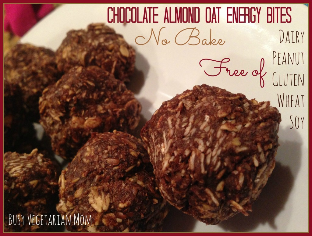 chocolate almond oat energy bites
