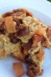 Slow Cooker Apple Bread Pudding Recipe