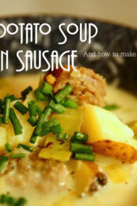 Leek and Potato Soup with Italian Sausage Recipe